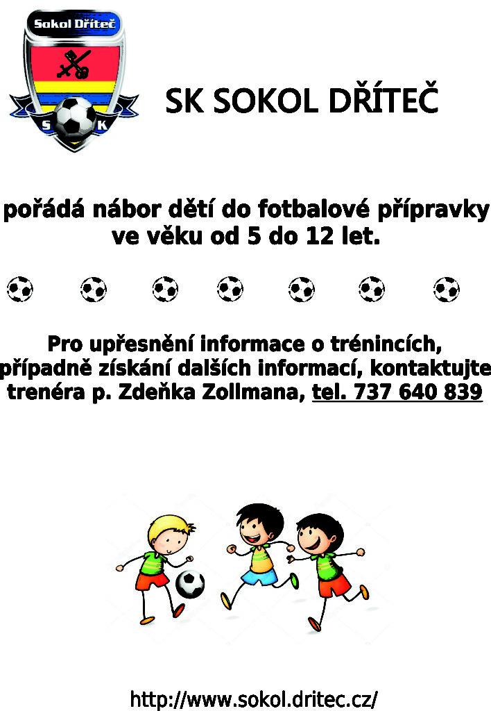 Nábor dětí SK Sokol Dříteč